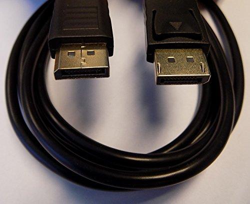 BBT@ / 3m Displayport zu Displayport Verbindungskabel / 3 Meter / Farbe: schwarz / Inklusive Audio-Übertragung / Displayport 1.2 Stecker Male ( zu to auf ) Displayport 1.2 Stecker Male (Jeweils 20 Pin) / Vergoldete Kontakte mit geringem Widerstand / Für besten Korrosions-Schutz + gute Leitfähigkeit / Bis 17 Gbit/s / Geschirmtes Drahtgeflecht / HDCP 1.3 / Für Verbindung von DisplayPort-Geräte wie PC Grafikkarte mit Beamer Monitor Projektor / Max. Auflösung: 3840x2160 oder UHD (2160p) bei 60Hz (Wsxga Computer)