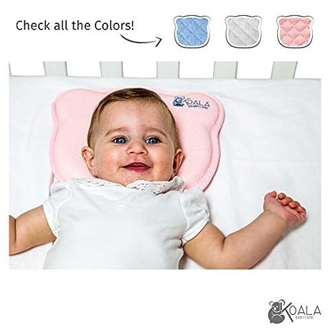 Coussin bebe orthopédique anti tête plate du nourrisson à mémoire