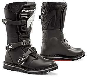 FORMA Stivali da Moto Trial Rock, per bambini e Ragazzi, Nero, 32