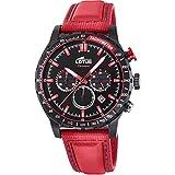 Lotus Herren Chronograph Quarz Uhr mit Leder Armband 18588/3