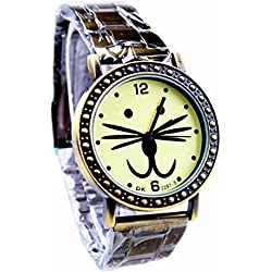 AplusWatch retro bronze stretch bracelet watches for men watch newest