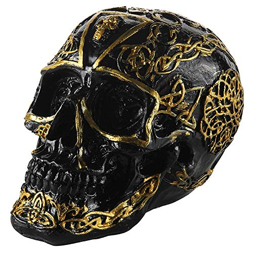 Schädel Resin Model Anatomische Medizinische Lehre Skeleton Kleine Replik Menschlicher Schädel Kopf Party Home Desk Dekoration Requisiten Ornament Modell ()