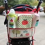 hibote Multifunktionale Stroller Lagerung mit Isolierung Taschen Trolley-hängender Beutel (Apple)