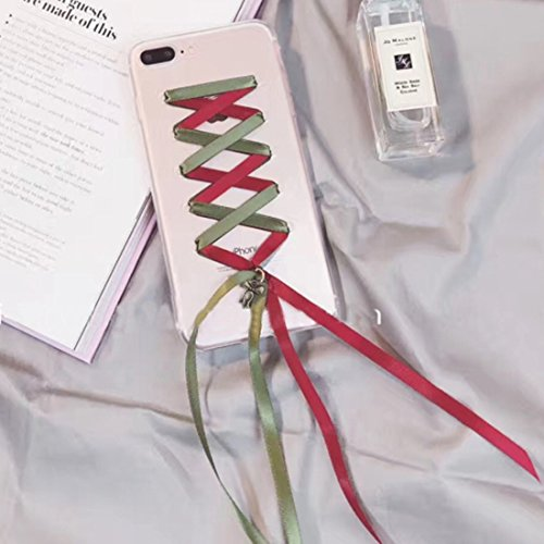YAN Für iPhone 7 Plus Ribbon Style Transparente weiche TPU schützende rückseitige Abdeckungs-Fall ( SKU : Ip7p6210r ) Ip7p6210r