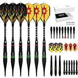 Cyeelife Soft tip darts set 18 Grams-6 Packs Black Sports Gift PU case-Accessories bag-3 Colors of barrels