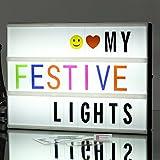 A4 leuchtkasten LED Kino Leichte Box Free Combination Cinematic LED Light Box mit 265 Charakteren, Emojis, Überraschungsgeschenk und perfekte Urlaub Dekoration