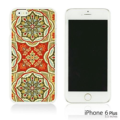 OBiDi - Fabric Pattern Hard Back Case / Housse pour Apple iPhone 6 Plus / 6S Plus (5.5)Smartphone - Pink Boho Pattern Waverly Tapestry Pattern