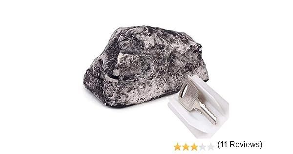 Fausse pierre trompe l/'/œil pour jardin Cachette coffre pour clef de maison Cache-cl/és imitation pierre