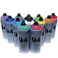 Montana MTN 94 Graffiti Spray 400ml, beliebtes Set 12 Aerosol-Farben Street-Art-Wandbild