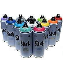 Montana MTN 94 Spray Paint 400ml Popular Colors Set of 12 Graffiti Street Art Mural Aerosol Paint Main Set 1