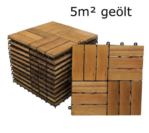 sam terrassenfliese 02 aus akazien holz 55er spar set f r 5 m garten fliese 30 x 30 cm. Black Bedroom Furniture Sets. Home Design Ideas