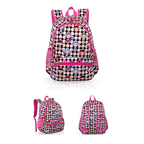 Highdas unisex alla moda stile zaino di scuola per adolescenti ragazze ragazzi studenti 10colori Rose Cartoon Girl