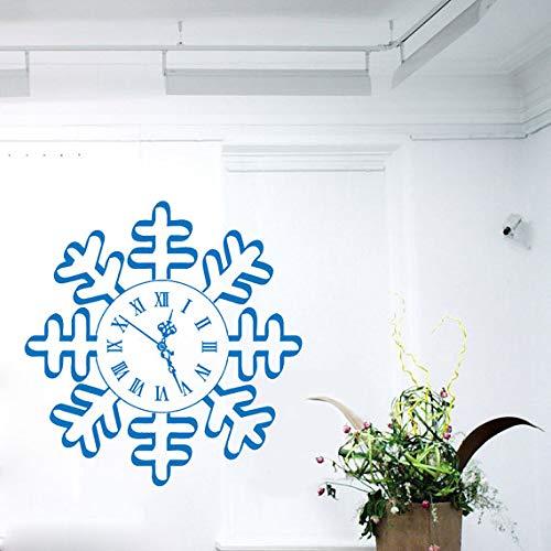 yiyitop Frohes Neues Jahr Wandtattoo Schneeflocke Uhr Frohe Weihnachten Dekor Home Vinyl Aufkleber Aufkleber Kinder Kindergarten Baby 38 * 38 cm