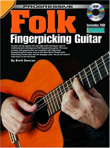 Folk Fingerpicking Guitar Method (Progressive) (Progressive Guitar Method)