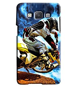 Clarks Motorcross Madness Hard Plastic Printed Back Cover/Case For Samsung Galaxy A5