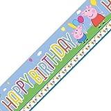 Striscione per compleanno o carnevale, tema Peppa Pig