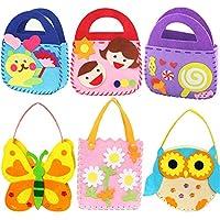 Dsaren Paquete de 6 Kits de Costura para Niños Actividades Creativas Bricolaje Bolsa de Manualidades, 6 Patrones