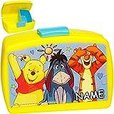 alles-meine.de GmbH Lunchbox / Brotdose -  Disney - Winnie Pooh  - inkl. Name - BPA frei - mit extra Einsatz / herausnehmbaren Fach - Brotbüchse Küche Essen - für Mädchen & Jun..