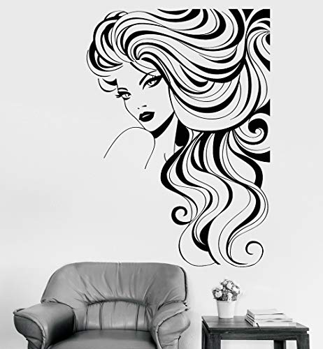 Wandtattoo Kinderzimmer Wandtattoo Schlafzimmer barber shop décor Barber Shop Sign Wall Decal Beautiful Fashion Girl Model Beauty Hair Salon Stickers