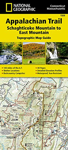 Appalachian Trail, Schaghticoke Mountain to East Mountain [connecticut, Massachusetts] (National Geographic Trails Illustrated Map) - New England Road Map
