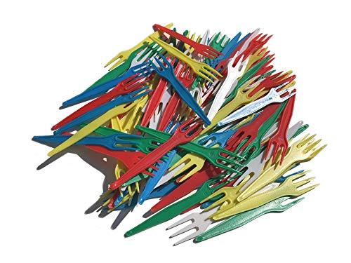 Patatas Tenedores Multicolor Plástico-100Unidades