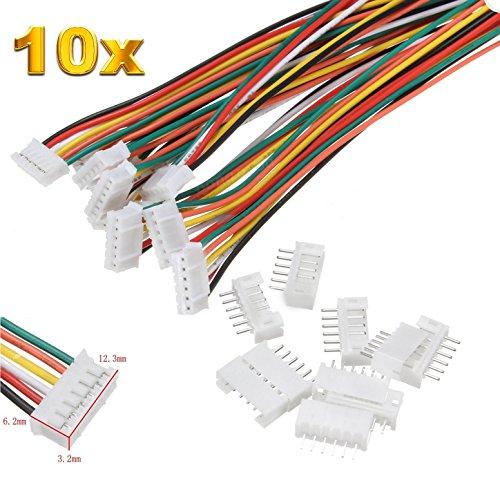 Micro-jst-anschluss (Premium 6Pin 2.0 PH 2.0mm Mini Micro JST Stecker inkl. 15cm 28AWG Kabel + Buchse Lose von Mr. Stecker Modellbau® (10x Sätze))