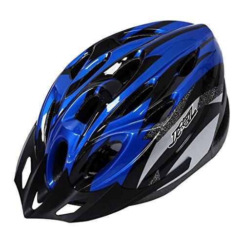 Casco - JSZ casco de bicicleta para los adultos hermoso casco de carbono con visera-azul+negro