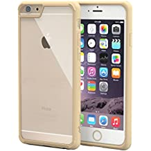 iPhone 6S Funda, APPLE IPHONE 6/6S Case 4.7, rooCASE/Manipura Ultra Slim Fit híbrido trasera transparente Gel TPU/PC Bumper ligero Thin–Funda protectora para iPhone 6/6S,, plástico, Fossil Gold, iPhone 6/6s Plus (5.5)