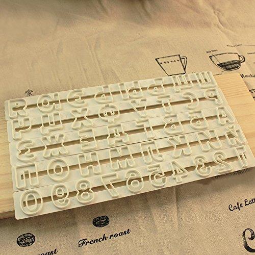 katoot @ Russische Buchstabe Kunststoff Cookies Cutter Fondant Form-Zeichensätze geprägt Sugarcraft Mould DIY Kuchen Backen Dekorieren Tools 5x/Set (Drücken Dekorieren Kuchen)