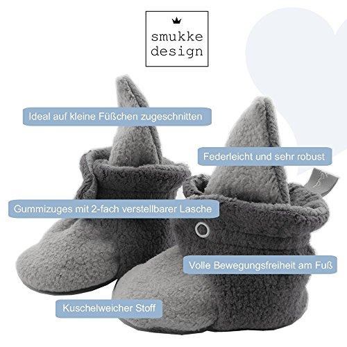 Baby Schuh Booties Babyschuh Babysocken Socken Schuh Krabbelschuh Lauflernschuh Babybooties für Mädchen und Jungen - SmukkeDesign NEU rosa-mint