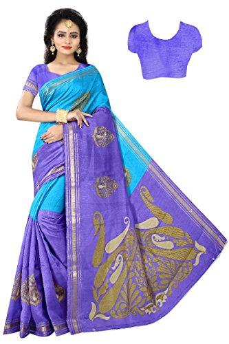 Women Mode Purple Color Silk Casual wear Traditional Saree
