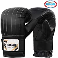 Boxing punch bag mitt gloves punching boxing gloves mma training gloves (Black, Small)
