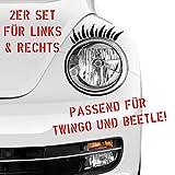 Auto Aufkleber in deiner Wunschfarbe 1 Paar Wimpern Scheinwerfer Set 20x8 cm Autoaufkleber Sticker Folie