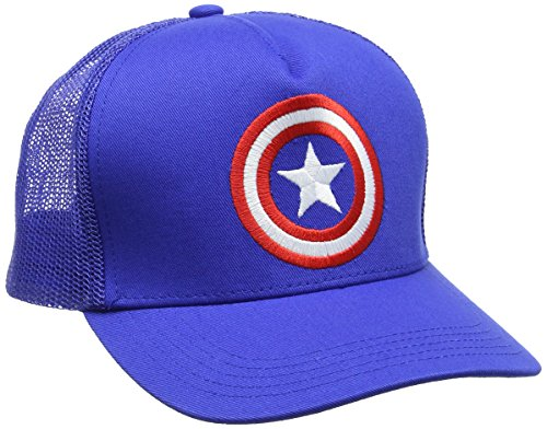 Marvel Unisex Captain America-Shield-Kids Baseball Cap, (Azure Blue), One Size (America-shield Kinder Captain)