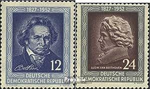 DDR 300-301 (complète.Edition.) 1952 ludwig van beethoven (Timbres pour les collectionneurs)
