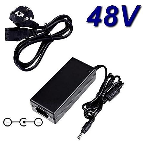 TOP CHARGEUR ® Adaptateur Secteur Alimentation Chargeur 48V pour Remplacement Avaya Nortel 1140E NTYS05 CISCO 7960 IP Phones
