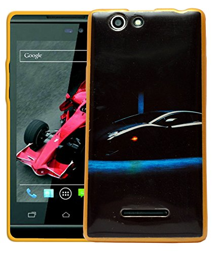 ECellStreet Printed Back Case Cover For Xolo A500s - Black Car  available at amazon for Rs.189
