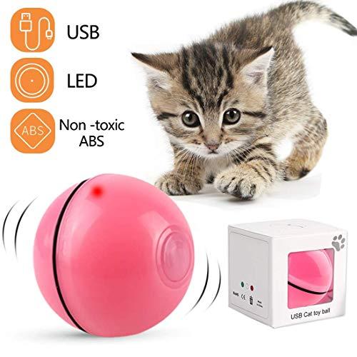 ¿Por Qué Eliges Nuestras Bolas Rodantes Automáticas Interactivas? 1.Los materiales ABS son seguros y no tóxicos, y las luces LED son inofensivas para los ojos de gato. 2.La rotación de 360 grados gira y la luz roja se emite al mismo tiempo. El gat...