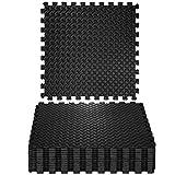 TecTake 12 x Bodenschutz Matte Schutzmatten Set Fitness Unterlegmatte EVA-Schaum | Maße pro Matte: ca. 63x63 cm