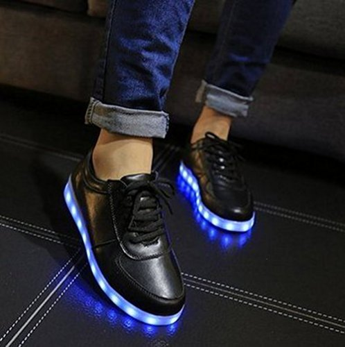 (Présents:petite serviette)JUNGLEST® 7 couleurs de recharge USB LED éclairés Couple lumineux Souliers simple Sneakers pou initial