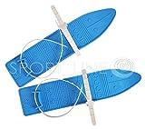 SKI SKIER KINDER BINDUNG + Stöcken KINDER-SKI Langlauf 4 Farben 40 CM (Blau)