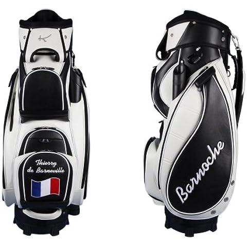 """Bolsa golf de carro MADEIRA """"monograma lateral"""" con 3 áreas personalizadas en negro/blanco"""