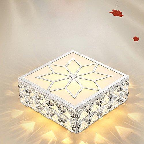 Europäische K9 Kristall Tropfen Glas Deckenleuchte Quadrat Rechteckig Luxus Decke Lampe Weiß LED Eyecare Deckenleuchte Wohnzimmer Flur Pendelleuchte (Glas-pendelleuchte-lampen-farbtöne)