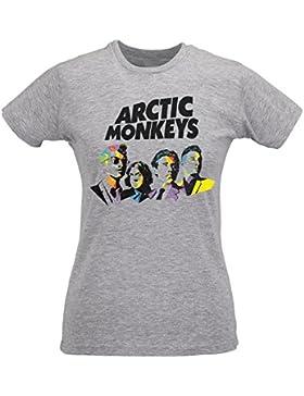 Camiseta Mujer Slim Arcticonkeys Art Logo - Maglietta 100% algodòn ring spun LaMAGLIERIA