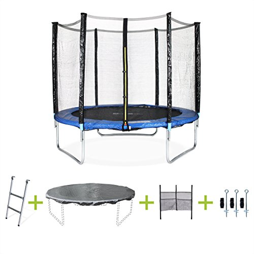 Alices Garden Trampoline Rond 250cm Filet Echelle Bache De Protection Filet De Rangement Pour Chaussures Kit Dancrage Pluton Xxl