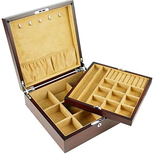 Kreative Mode Schmuckständer Tablett Kreative Mode Kreative Mode Multifunktionale Aufbewahrungsbox Flanell Pu Leder mit Schubladenverschluss, ZH