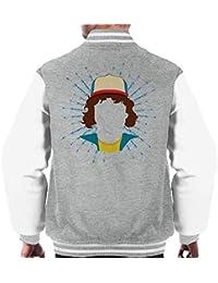 Stranger Things Dustin Henderson Silhouette Head Mens Varsity Jacket