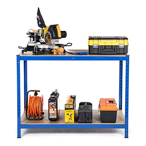 Racking Solutions - Établi de travail charges lourdes, Maison, Garage, Bricolage, capacité de charge totale 600kg (2niveaux 900mm H x 1200mm L x 600mm P) + Livraison Gratuite