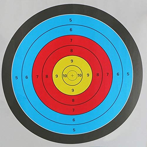 WQ-HUNTING, Schießscheiben Papier Bogen Pfeil 60 * 60 cm Spurweite Outdoor Sports Gadgets Jagd Zubehör Beruf Nützlich Langlebig