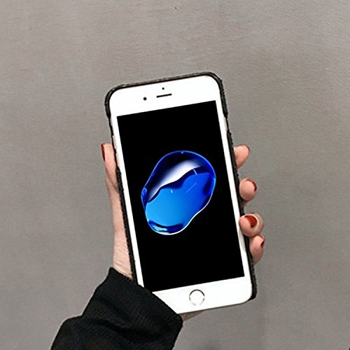 GHC Cases & Covers, Herz-Form-Funkeln-Puder-harter schützender rückseitiger Abdeckungs-Fall für iPhone 7 ( Color : Black ) Black